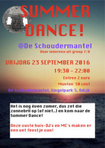 Poster Summer Dance sep 2016 versie 2