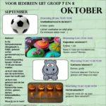 Xieje activiteiten oktober